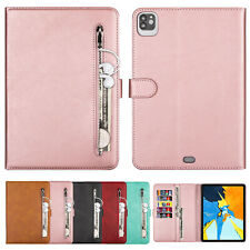 For iPad 2 3 4 Air 1/2 10.2 6th 12.9 4th 2020 Mini 4 5 Case Leather Pocket Cover