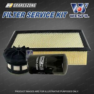 Wesfil Oil Air Fuel Filter Service Kit for Ford F250 F350 RM RN 7.3L V8 TD 01-07