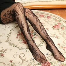 Sexy Women Lace Tattoo Sheer Stockings Hollow Fishnet Pantyhose Slim Tights New