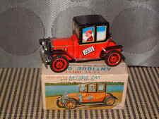 DAIYA VINTAGE FRICTION FULLY TIN TEST DRIVE ANTIQUE CAR PERFECTLY WORKING W/BOX!