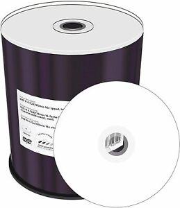 100 Mediarange Full Printable Blank discs DVD-R 16x 4.7GB 120 mins Spindle MR413