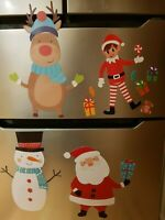 Christmas On The Fridge Magnets Magnet Freezer Xmas Decoration Lockers Kids Game