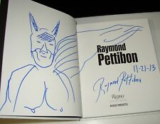 RAYMOND PETTIBON SIGNED FIRST EDITION WITH BATMAN DRAWING BLACK FLAG POSTER ART