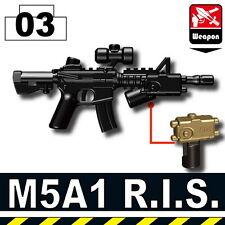 M5A1 R.I.S. (W137) Advanced Assault Carbine compatible w/toy brick minifigures