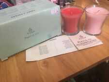 PartyLite 2 Bestburn Mini Jar Candles P95097 3.5oz Watermelon & Pina Colada Nib