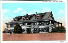 MANHATTAN, KS Kansas   COUNTRY CLUB   c1920s   Car   Postcard
