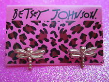 Betsey Johnson Dragon Fly Stud Earrings