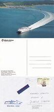 Danish Catamaran Mf Mads Mols A Ships Cached Cover & Colour Postcard
