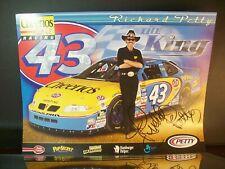John Andretti Richard Petty Autographed #43 Cherrios Pontiac 8x10 Hero Post Card