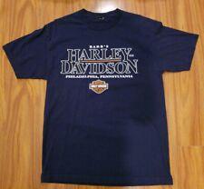 Harley Davidson Philadelphia Liberty Bell Blue Tshirt