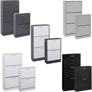 Shoe Cabinet Storage Organiser Rack Stand 2 3 Drawer Wooden Unit Cupboard