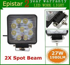 Brand 2x27W 12V 24V LED Work Light SPOT Lamp Tractor Truck SUV UTV ATV Off-road