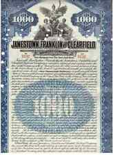 Jamestown Franklin and Clearfield Railroad Company 1909