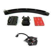 Helmet Extension Arm Mount Kit For GoPro Hero 2 3 3+ 4 Accessory Motorcross Ski