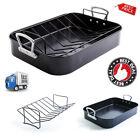 Non Stick Turkey Roaster With Rack Handle Bakeware Roasting Oven Baking Pan Gift photo