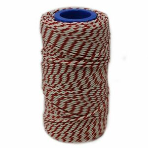 Rayon No. 5 Red & White Butchers String/Twine   100m (190g)   Food-Safe