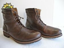 Billy Reid 1003 Men's Slip On Brown Leather Hand made Boots. US Size 8.5 Italy.