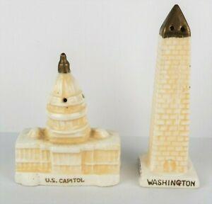 Vintage Washington DC Salt Pepper Shaker Set US Capitol Building Monument Japan