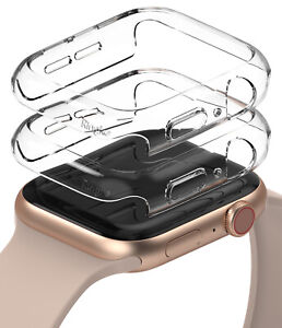 For Apple Watch Series 6 / 5 / 4 / SE Case 44mm Ringke [Slim] Clear Cover 2 Pack
