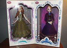 "Disney Store Limited Edition Designer Series Frozen Anna & Elsa LE 5000 17"" Doll"