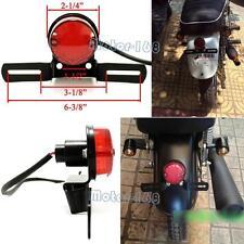 YF1 12V ROUND RED Motorcycle LED BRAKE TAIL LIGHT FOR BOBBER CHOPPER RACER ATVS