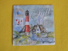 5 Servietten SYLT Serviettentechnik Motivservietten maritim Leuchtturm Haus 1/4