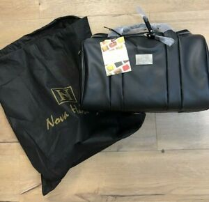 BNWT Nova Harley Luxury Real Leather Baby Changing Bag With Dust Cover