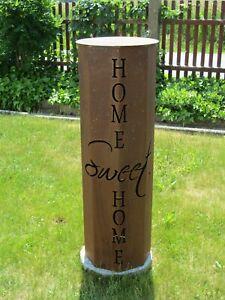"Dekosäule ""Home Sweet Home"" Rost Dekosäulen Rostsäule  rost ohne Schale Edelrost"