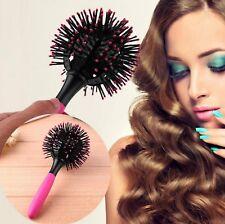 brosse à cheveux ronde 360° sphérique, résistant à la chaleur, démélant