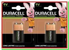 2 DURACELL Ricaricabili 9v Batterie Pile 9 V volt TRANSISTOR Block NEW DURALOCK