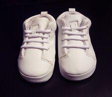 Baby Deer Boy's Toddler Size 2 Crib Shoes White Tie NWOB Older Stock