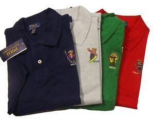 Polo Ralph Lauren Boys Embroidered Polo Bear Mesh Short Sleeve Polo Shirt