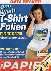 Data Becker Camiseta Películas 2 Pieza Ser Desmontables Lavable din A4 Claro