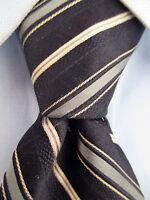Men's Michael Kors Black White Silk Striped Tie 21047