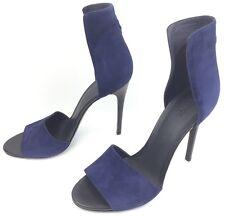 VINCE Giustina Blue Suede Ankle Strap Heels Sandals sz: US 10