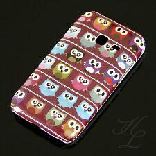 Samsung Galaxy Ace Duos s6802 Hard Case Housse portable étui petit hibou rouge Owl