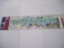 Scrapbooking Stickers Disney Dreams Do Come True Cloth Blue Cloud Stars More