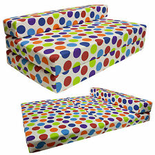 SPOTTY Foldout Sofa Bed  Z Guest Folding Futon Double Mattress Chairbed Gilda