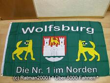 Fahnen Flagge Wolfsburg Fan Die NR.1 im Norden - 90 x 150 cm
