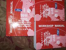 2011 Ford Fusion Lincoln MKZ Milan Hybrid Service Shop Repair Manual Set FACTORY