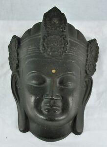 "Vintage Buddha cast metal mask 9 ½"" x 7"", wall hanger. (BI#MK/171129)"