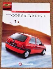 1997 VAUXHALL CORSA BREEZE Sales Brochure - 1.2i 1.4i Special Edition Model