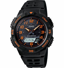 Casio Solar Analog/Digital Watch, Black Resin, 100 Meter, 5 Alarms, AQS800W-1B2V