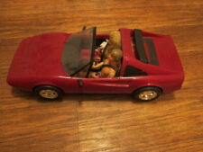 "Vintage 1986 Mattel Barbie RED FERRARI  Sports Car 21"" W/ KEN & BARBIE KOOL"