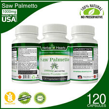 Organic Saw Palmetto Extract 1000mg | Herbal hearts | Vegan Capsules 120