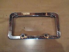 CHROME LICENSE PLATE TRIM  / COVER FOR HARLEY DAVIDSON