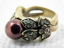 Heidi Daus Vine and Divine Simulated Violet Pearl Crystal Ring Size 6 China