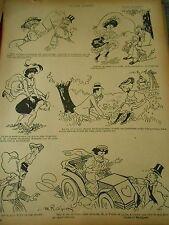 GM21 - Les Jeux Dangereux Dessins Humour Print 1907