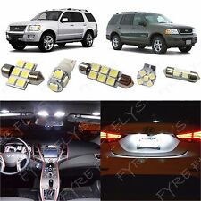 8x White LED lights interior package kit for 2002-2010 Ford Explorer FX1W