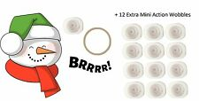 Art Impressions Mini Shaker Stamps & Action Wobbles - Winter Snowman, Christmas